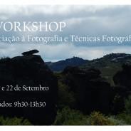 Workshop de iniciação à fotografia e técnicas fotográficas, 8, 15 e 22 de Setembro das 9h30 às 13h