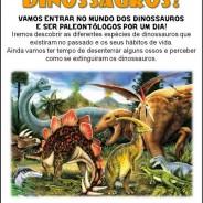 O mundo dos dinossauros, Sábado 20 de Outubro das 15:00 às 17:30