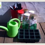 Vamos fazer mini hortas?; Sábado 1 de Novembro das 15:00 às 17:30