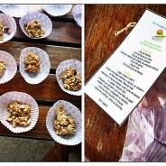 Atelier de mini barrinhas de cereais; Sábado 25 de Abril das 15:00 às 17:30